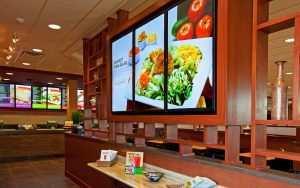 placement of digital signage panels