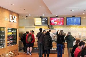 digital panels for cafes