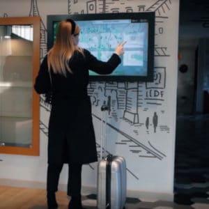 the use of digital signage panels