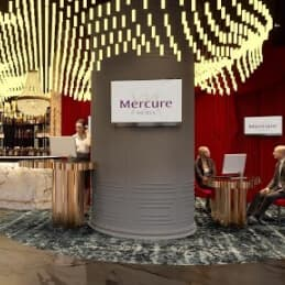 digital signage in Mercure hotels